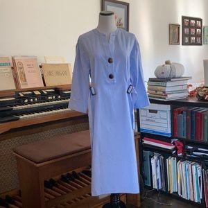 Zara Basic Light Blue Shift Dress W/Belt, Size M
